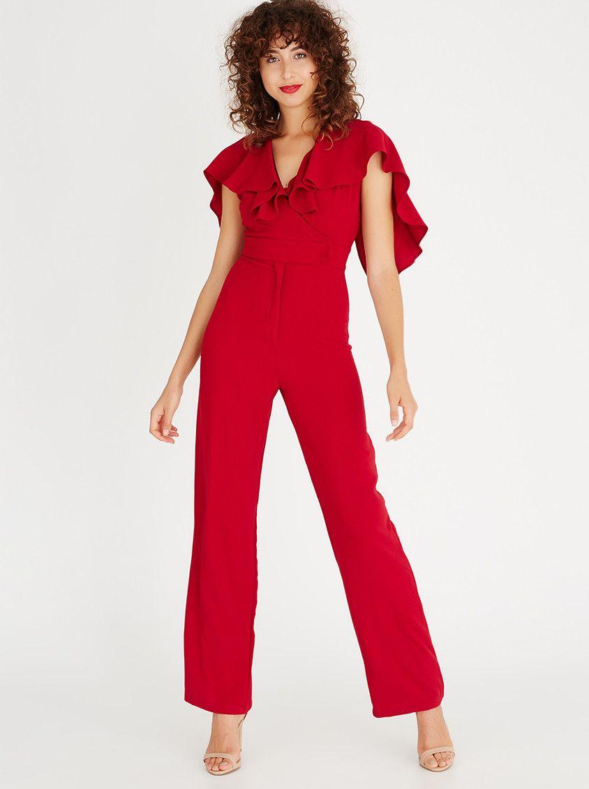 Gertjohan coetzee back lace jumpsuit dark red graduation
