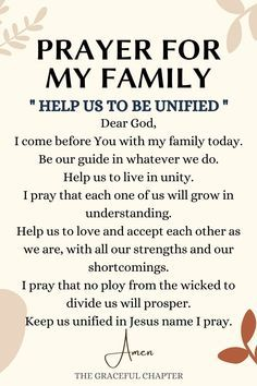 8 Powerful Prayers For Your Family - The Graceful