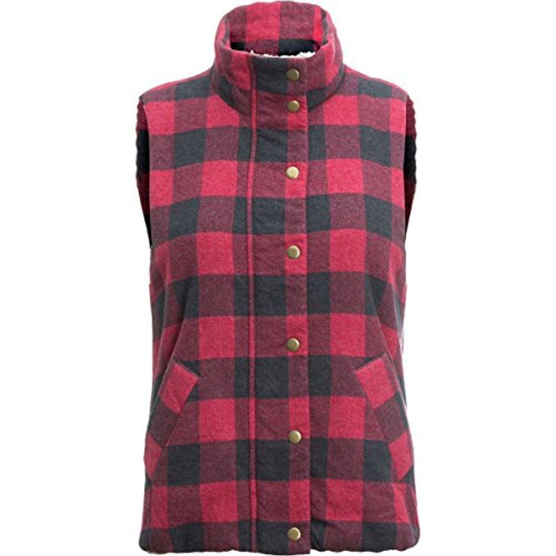 Dylan Classic Vest  Womenus RedMelange Buffalo Checks L