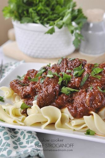 Slow Cooker Beef Stroganoff Recipe on Yummly
