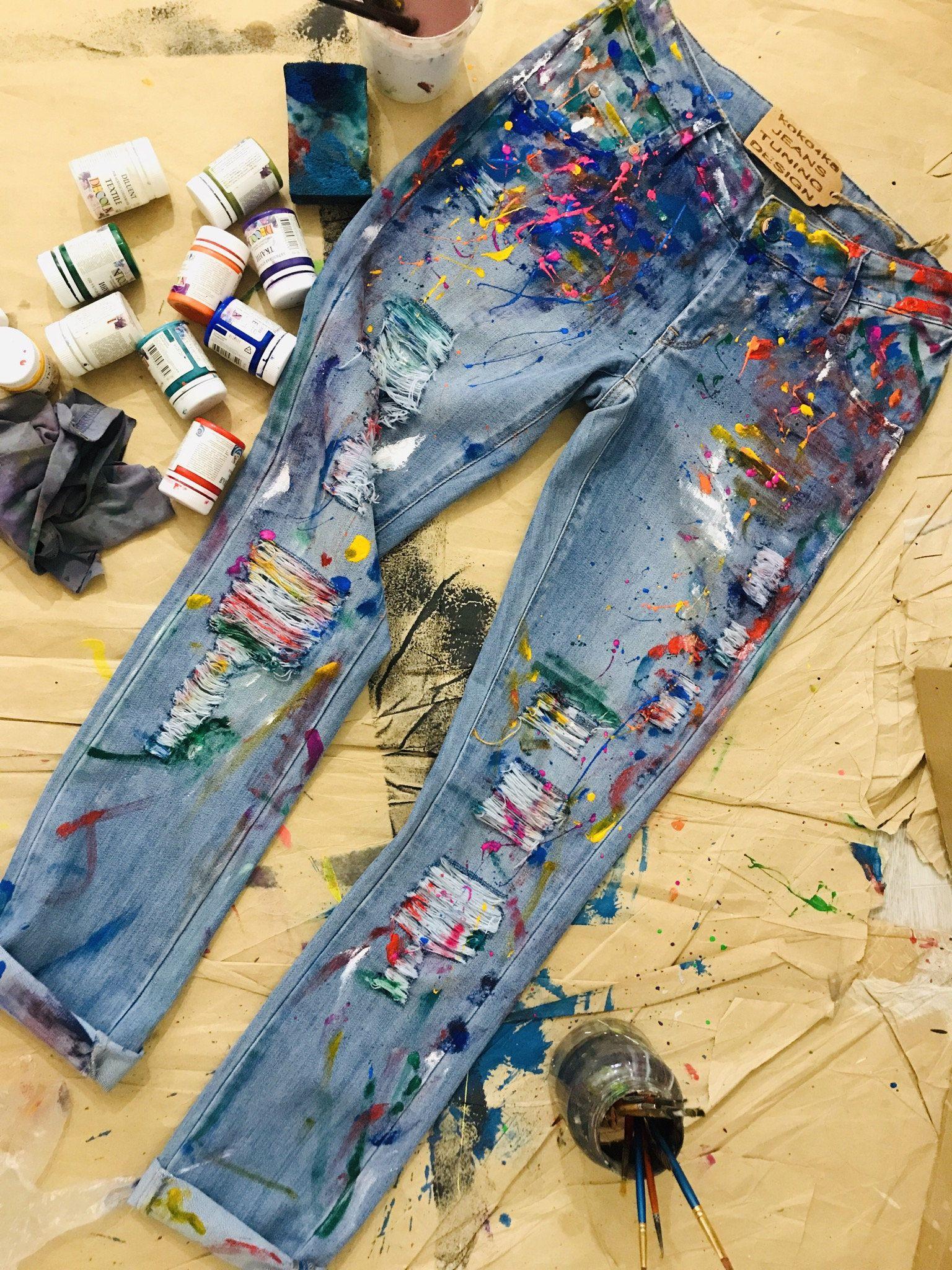 Paint Splatter Jeans Spray Paint Clothing Blots Jeans Spray Paint Paint Splatter Jeans Festival Clothing Boh In 2020 Paint Splatter Jeans Painted Clothes Painted Jeans [ 2048 x 1536 Pixel ]
