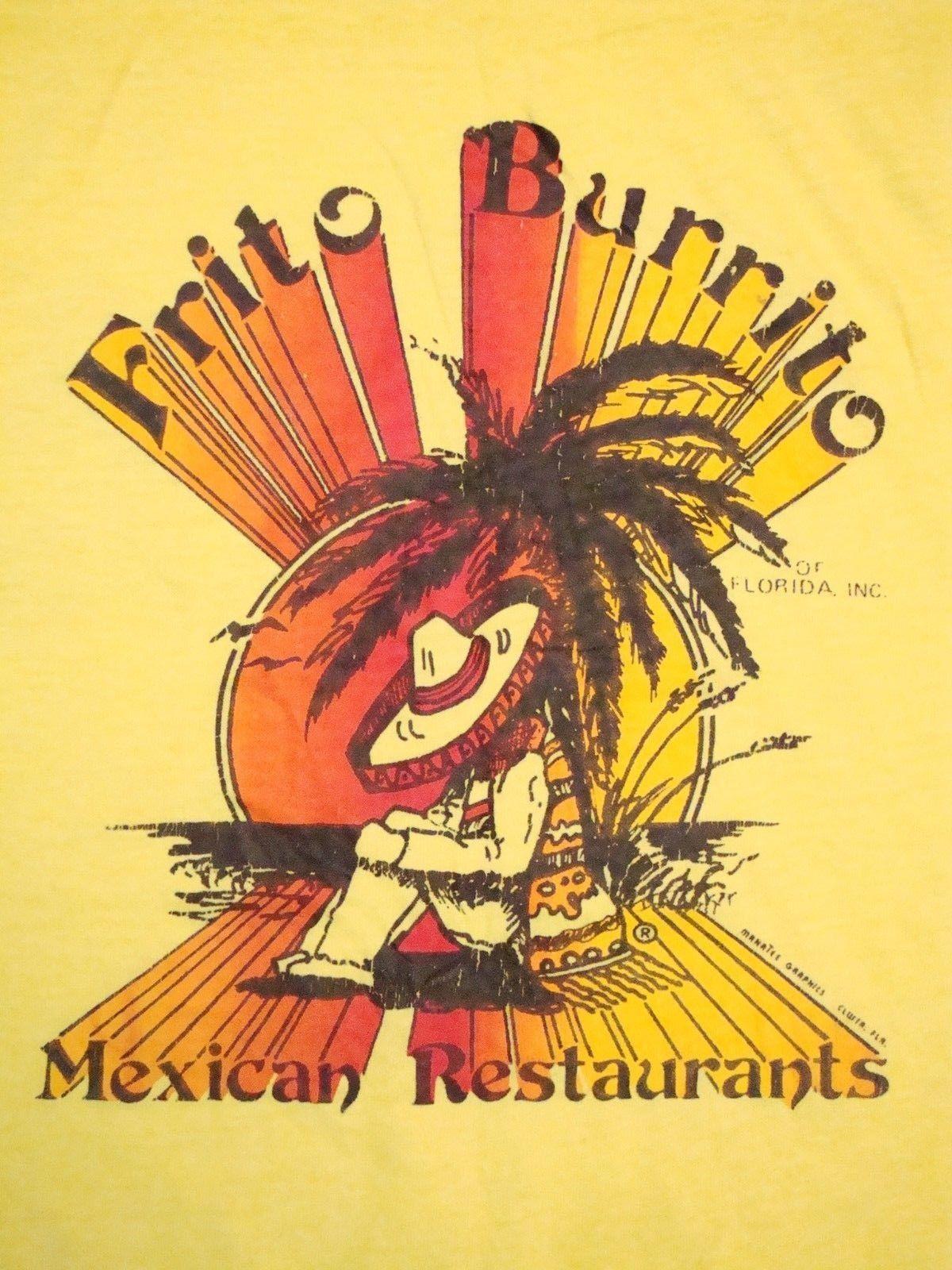 Vtg Frito Burrito Florida Mexican Restaurants Firon On Tourist Soft T Shirt M Ebay