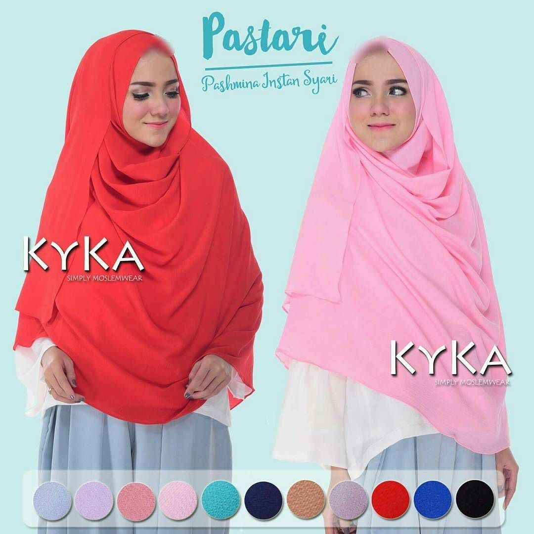 Kykaid Proudly Present Pashmina Instant Syari Pastari Instan 2 Lubang Face Id
