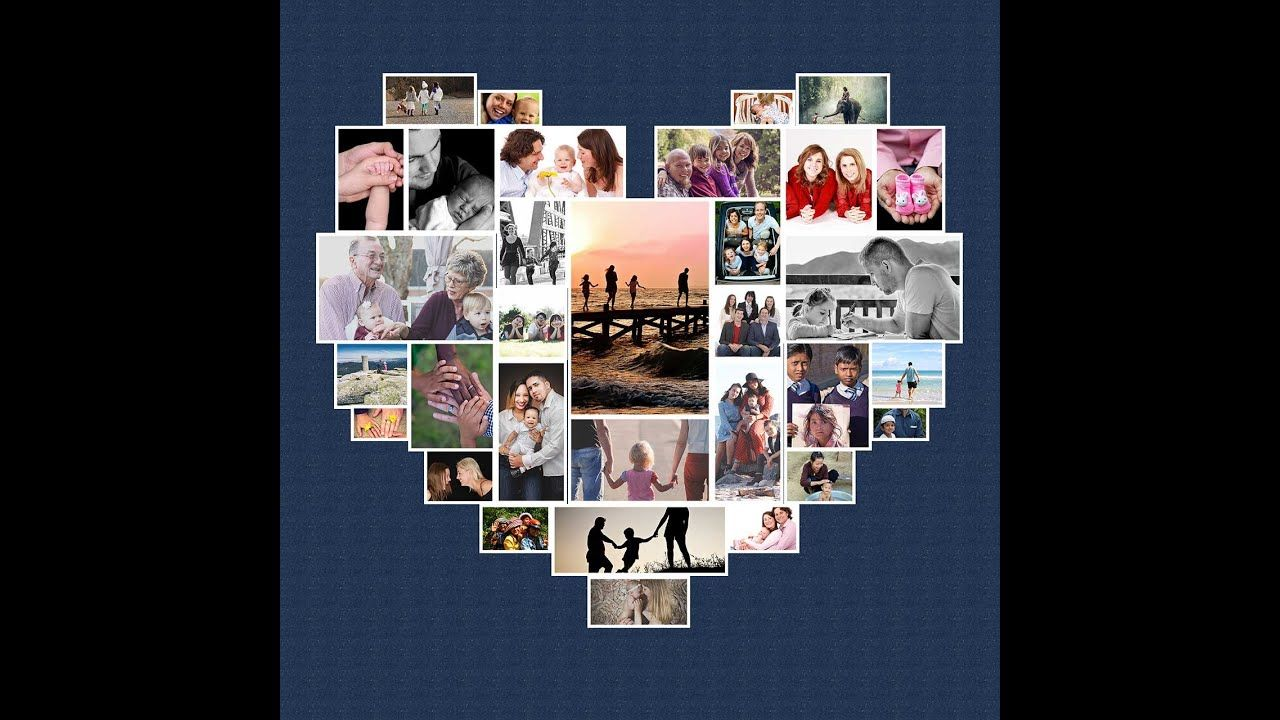 How To Make A Heart Photo Collage In Photoshop In 2021 Photo Collage Heart Photo Collage Make A Photo Collage
