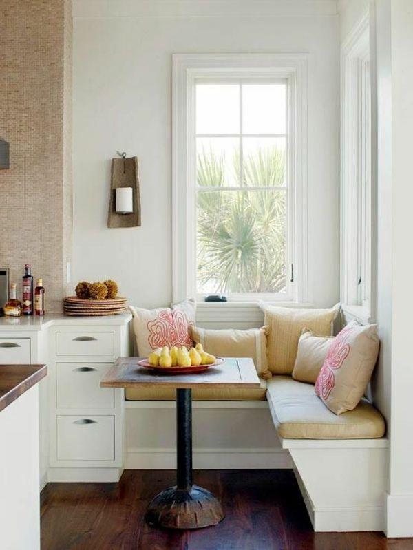 interior-design-ideen-weiße-sitzbank-holz-im-esszimmer2 Mobilă