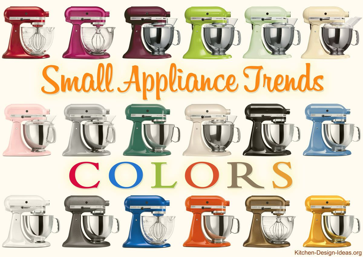Kitchen Idea of the Day Small Appliance Color Trends KitchenAid