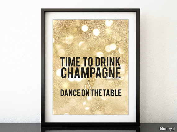 22x28 Party printable poster gold party decor by blursbyaiShop ...