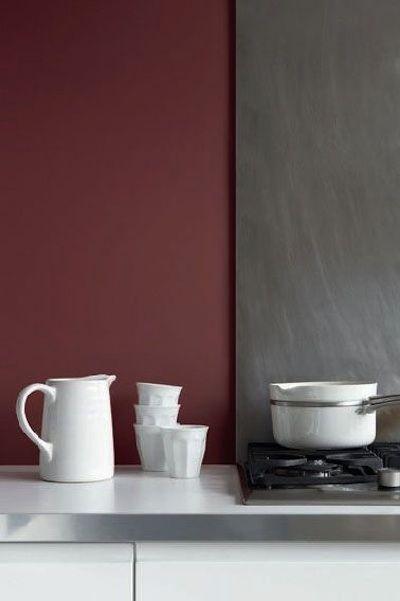 Cuisine murs bordeaux pour actualiser cette couleur il - Cuisine bordeaux et gris ...