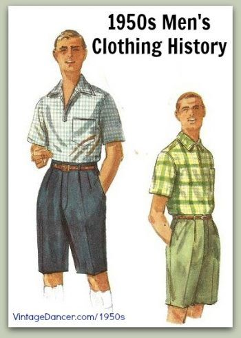 1950s men s clothing and fashion history  casual styles. Learn and shop at  VintageDancer.com 1950s 436a0c861