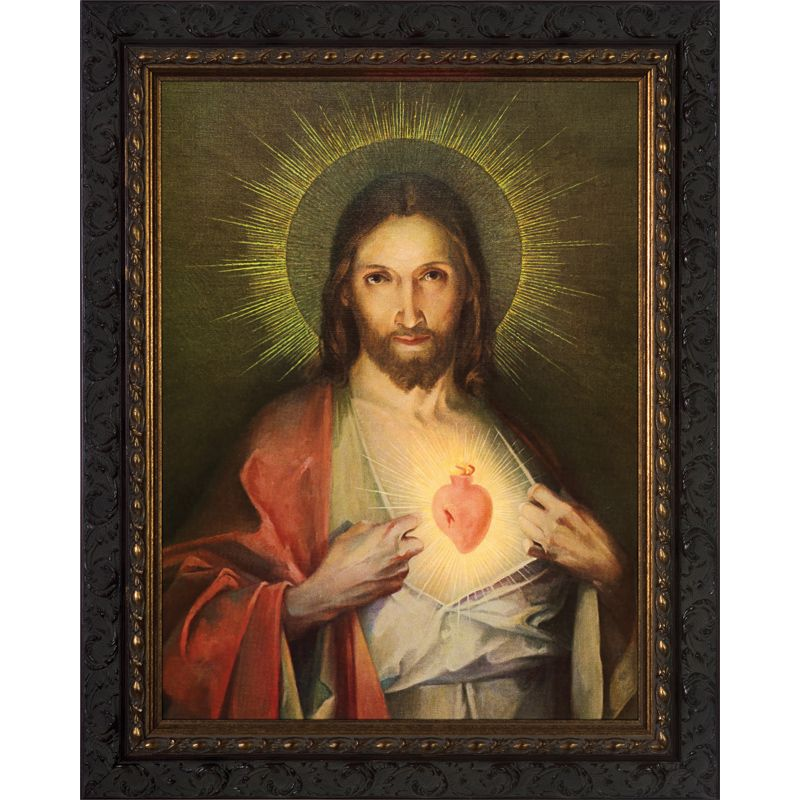Polish Sacred Heart Picture Sacred Heart Pictures Catholic Art Heart Canvas