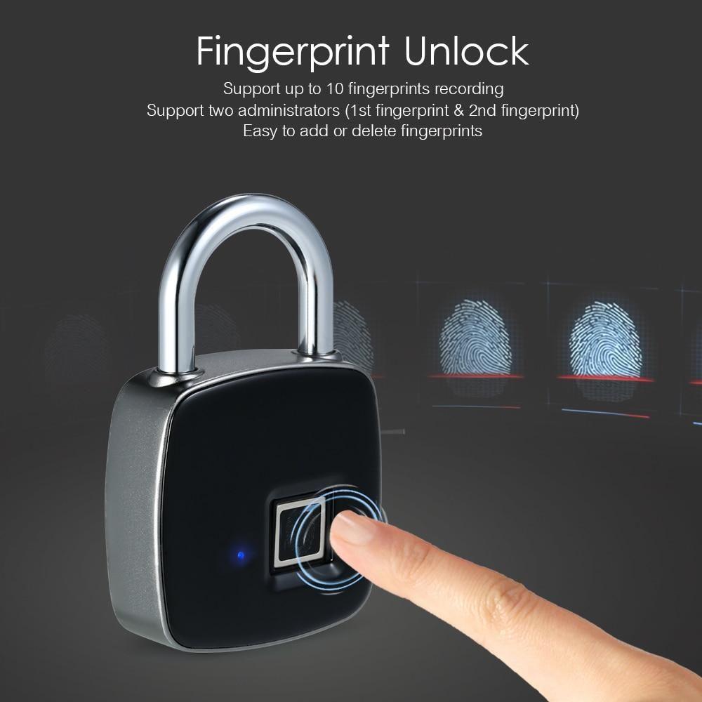 The Best Smart Waterproof Fingerprint Padlock | cars accessories