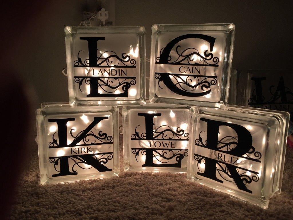 Diy Decorative Glass Blocks Diy And Crafting Mommy Upgrade Lighted Glass Blocks Decorative Glass Blocks Monogrammed Glass