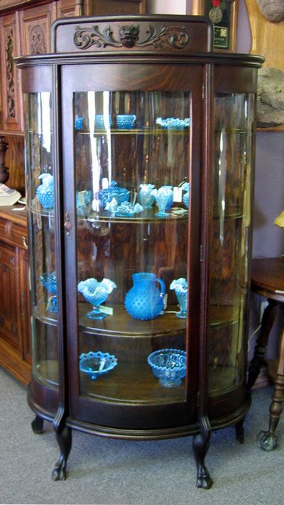 Round-front glass cabinet-Grandma's was filled with her collection of salt  and pepper shakers. - Google Image Result For Http://floridabentglass.com/wp-content