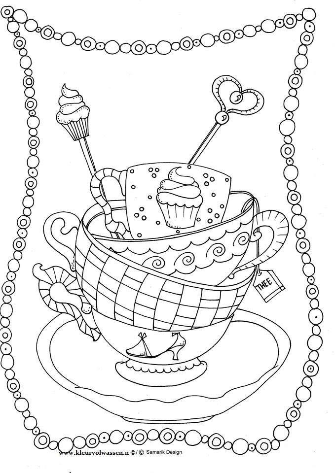 Tea Cup And Saucer Drawing Sketch
