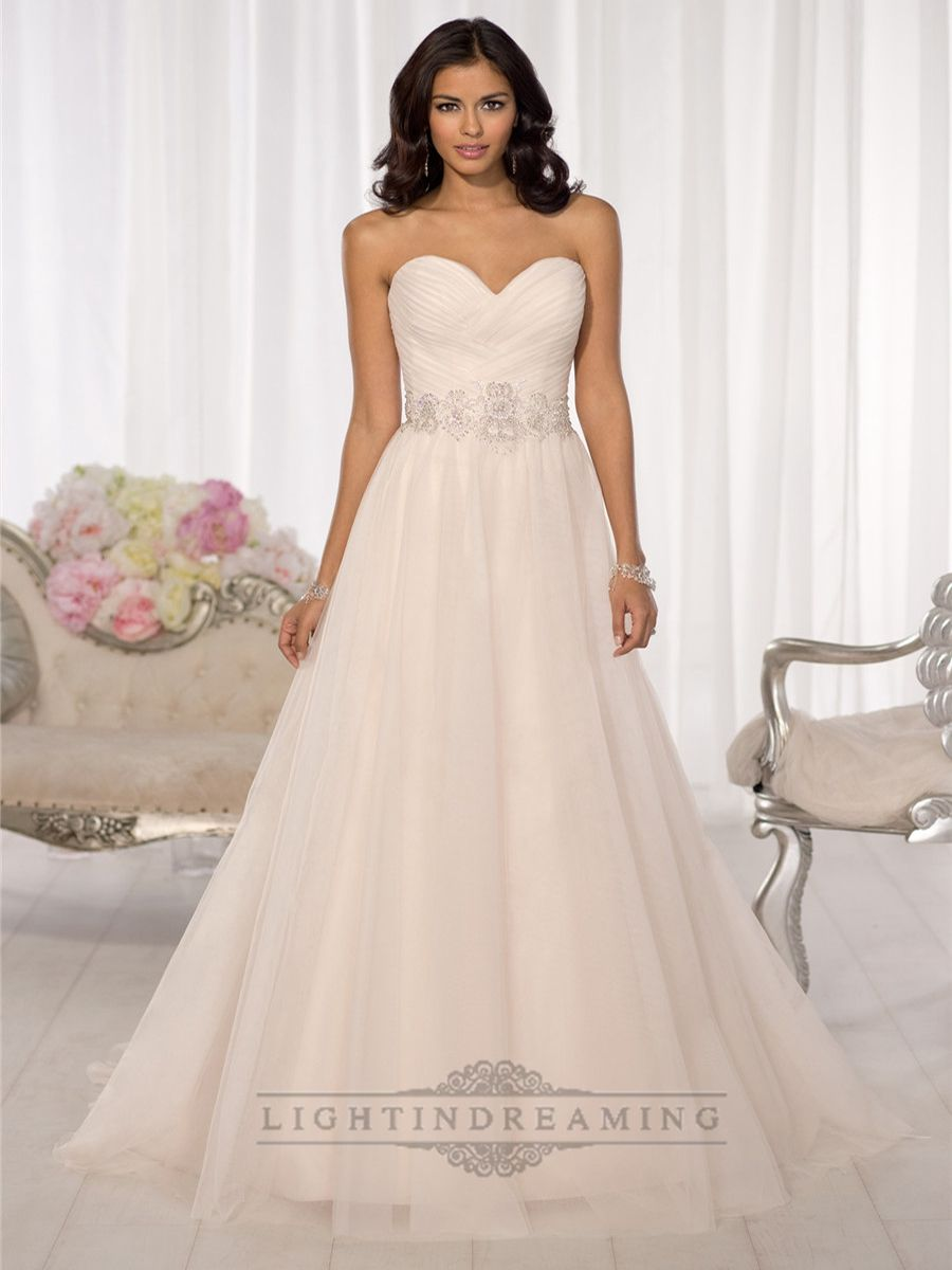 Simple crisscross sweetheart aline wedding dresses all things