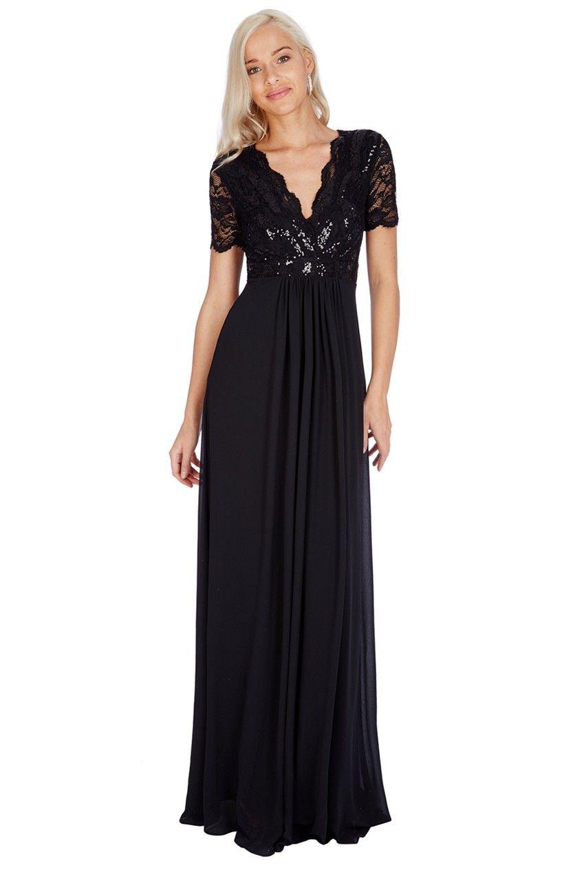 Sequin chiffon maxi dress black chiffon maxi maxi dresses and