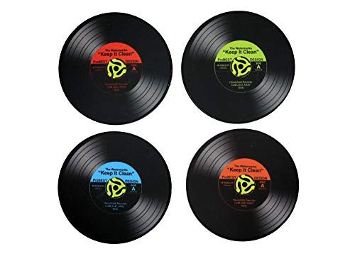 Vinyl Record Coaster Set Of 12 Piece Retro Vinyl Record Https Www Amazon Com Dp B07k2733h2 Ref Cm Sw R Pi Dp U Funny Coasters Vinyl Records Coaster Set