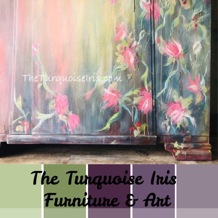 #furniturepainter #furnitureartist #vintagefurniture #paintedfurniture #loveart #oklahomaartist #okcartist #oneofakind #theturquoiseiris #handpainted #claybasedpaint #etsyshop #etsyseller #createallday #creativeentreprenuer #dotheDionne #colormovement #DIYpaint #debisdesigndiary