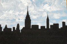 Easy Acrylic Painting Ideas Nyc City Scene Painting Ideas On Pinterest Easy Paintings Tree Paintings A City Scene Painting City Painting New York Painting