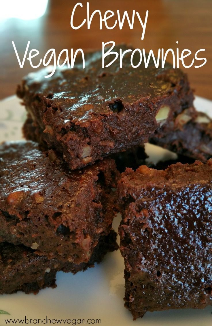 Vegan Brownies Chewy Vegan Brownies so rich and chocolaty they demand to be eaten.  All of them.  Now!Now and Then  Now and Then may refer to: