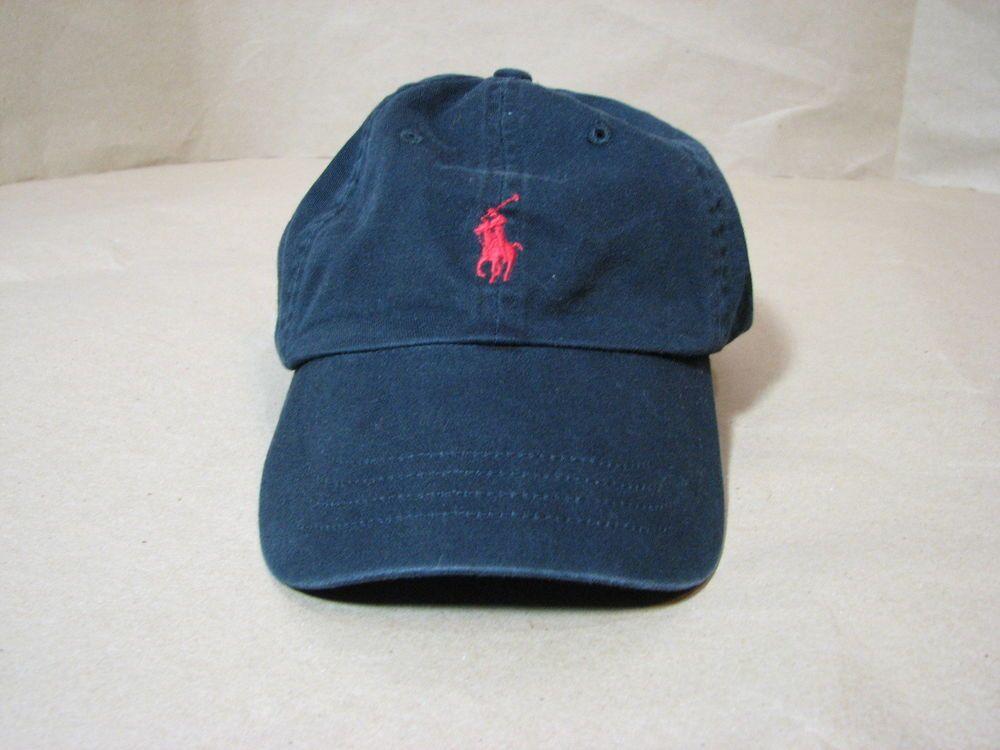7ac234546d4 Polo Ralph Lauren Black Red Hat Ball Cap Adult Men Cotton  PoloRalphLauren