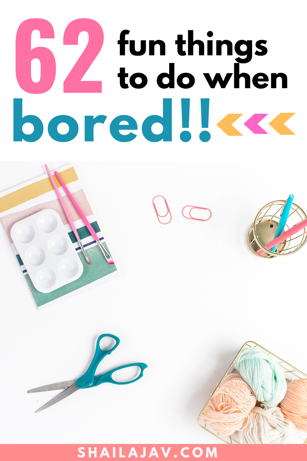 62 Fun Things to do for Kids when Bored at Home