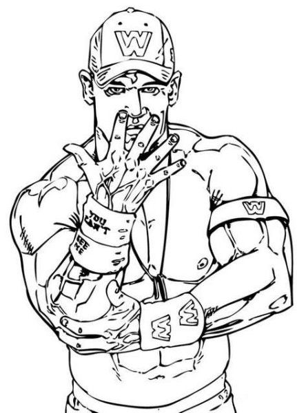 Wwe Coloring Pages Entertaining Media For Learning Wwe Coloring Pages John Cena Birthday John Cena