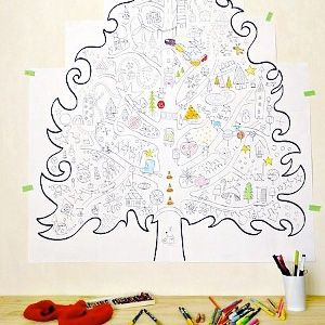 Printable Christmas Coloring Pages Soooo cool-giant tree to tape up ...