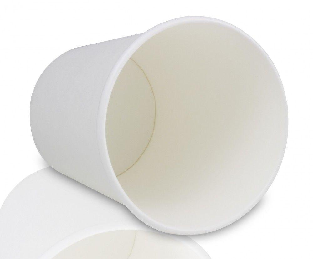 كوب ورق أبيض للمشروبات الساخنة مثل اكواب ققوط اللاتيه والكابتشينو السعة 9 انز 266 مل اللون أبيض العدد 40 كوب الطول 9 سم العرض 8 سم متوفرة لدى 40th