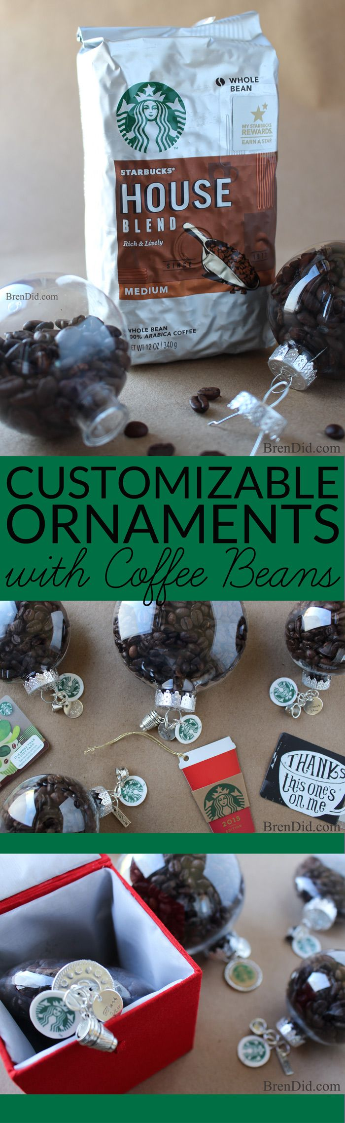 Holiday craft idea coffee bean ornaments easy coffee for Gift ideas for craft lovers