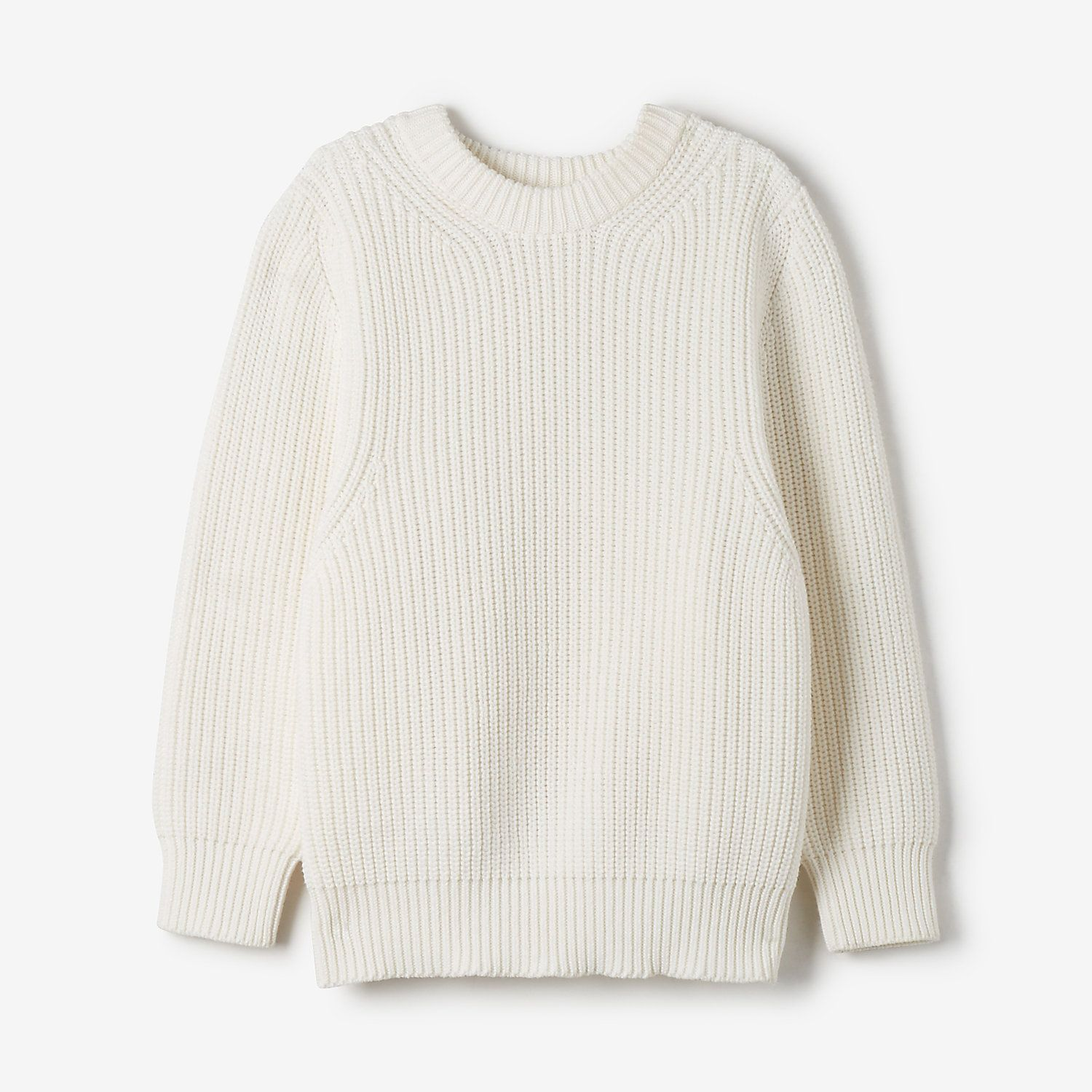 AUBREY SWEATER by Demy Lee. A boxy cotton sweater with elbow ...