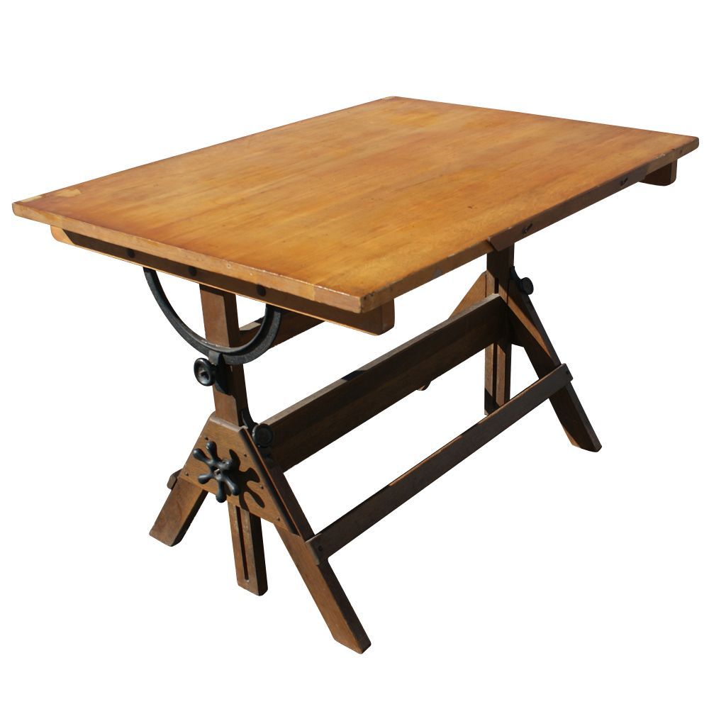 Antique Drafting Table U003d Kitchen Island!