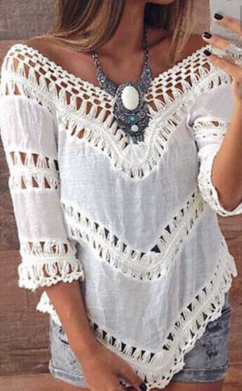 Women's Clothing Confident White Lace Crochet Blouse Women Off Shoulder Tunic Top Blusas Hollow Casual Blouse Blusas Femininas Rapid Heat Dissipation