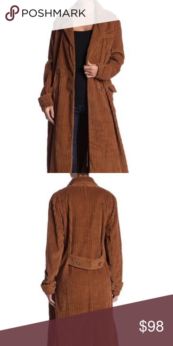 NWOT free people Abbey Road Duster jacket coat
