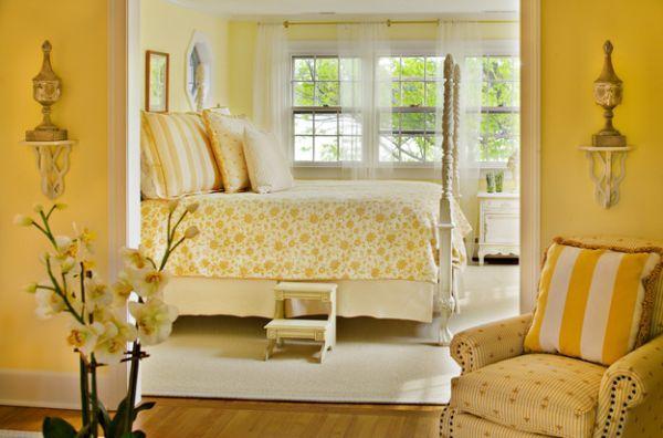 Coole Schlafzimmer Farbpalette Gelb Blumen