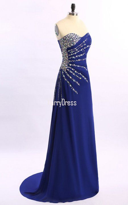 sheath/column sweetheart chiffon prom dress