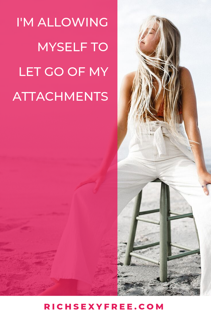 Work Stress Quotes I'm Allowing Myself To Let Go Of My Attachments | Surrender + Trust Quotes For Women Entrepreneurs