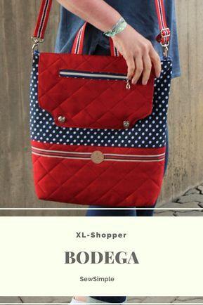 XL-Shopper nähen: Schnittmuster für die Shopper-Tasche «Bodega»