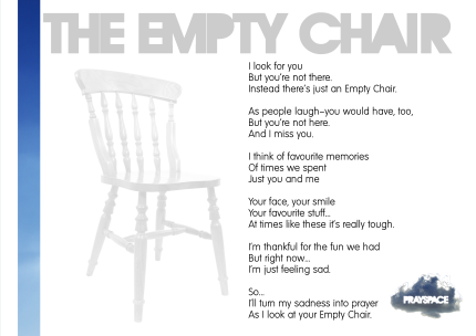 The Empty Chair Empty Chair Poem The Empty Chair I Miss My Daughter
