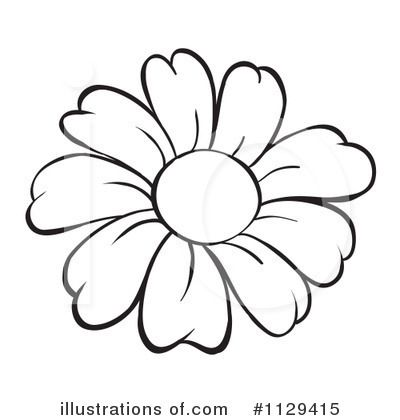 Flower Outline Clip Art | Royalty-Free (RF) Flower Clipart ...