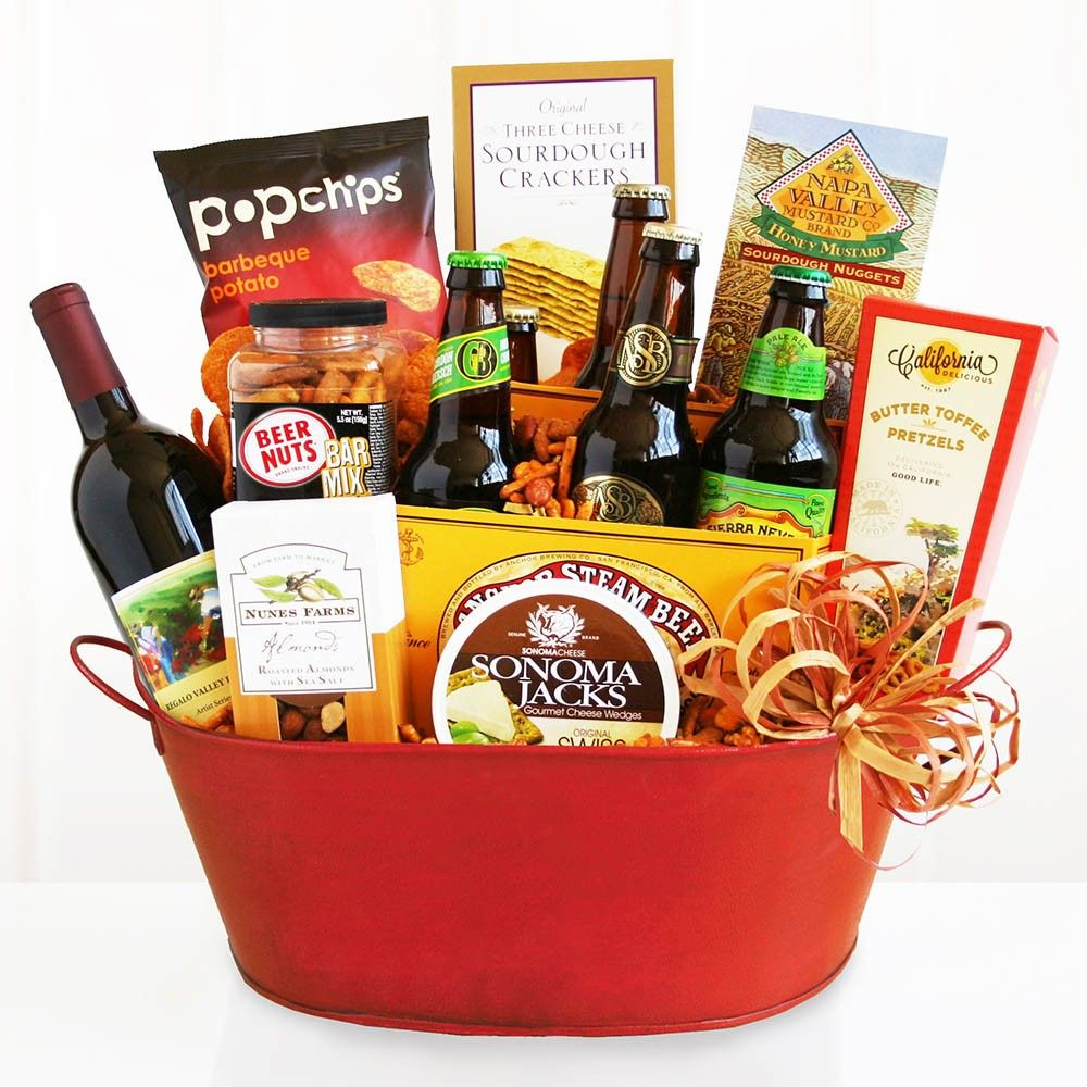 Order Wine And Beer Party Online Our Product Range Offers Gift Baskets For Almost Every Occasion Or Holiday Wine Gift Baskets Holiday Wine Gift Holiday Wine