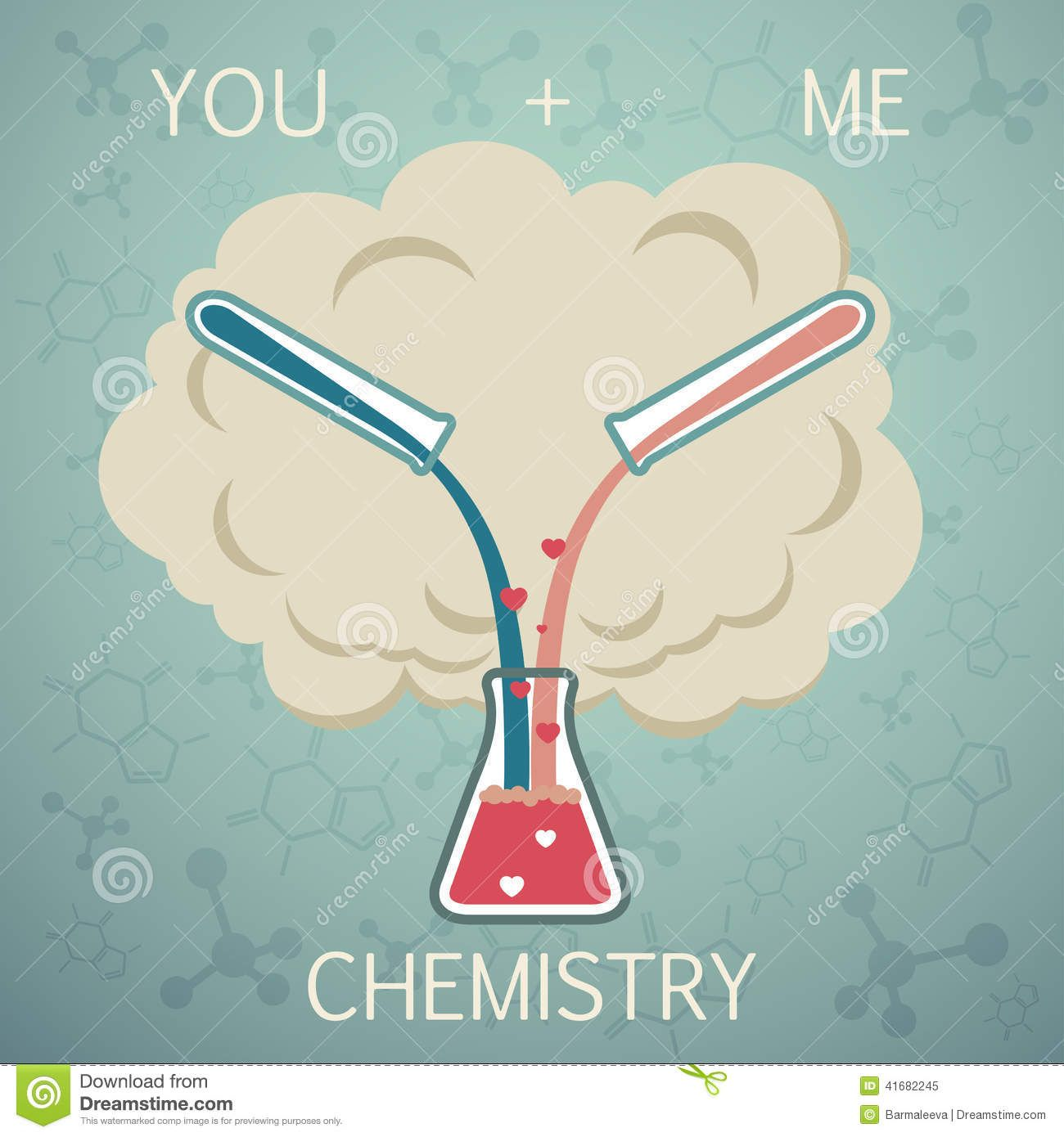 you me chemistry chemistry love vector background