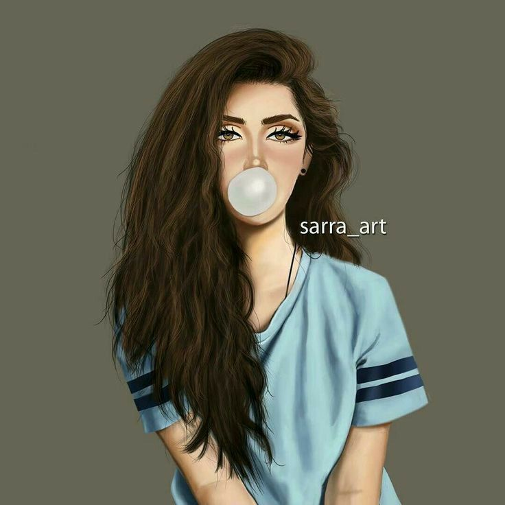 Photo of beautiful girl drawing