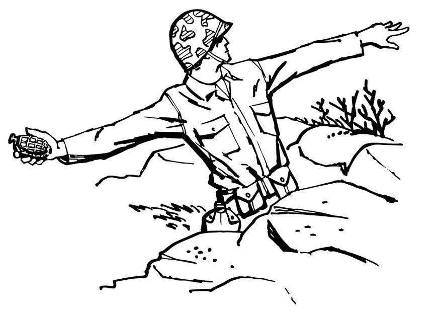 Dibujo Para Colorear Soldado Tira Granada Img 13288 Az Dibujos Para Colorea Dibujos Para Colorear Páginas Para Colorear Páginas Para Colorear Para Imprimir