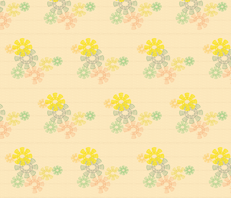 Floral Daleks - Vintage fabric by 3o'clockbadger on Spoonflower - custom fabric Another one to make people think! I'm not sure about the yellowy colour though. :/