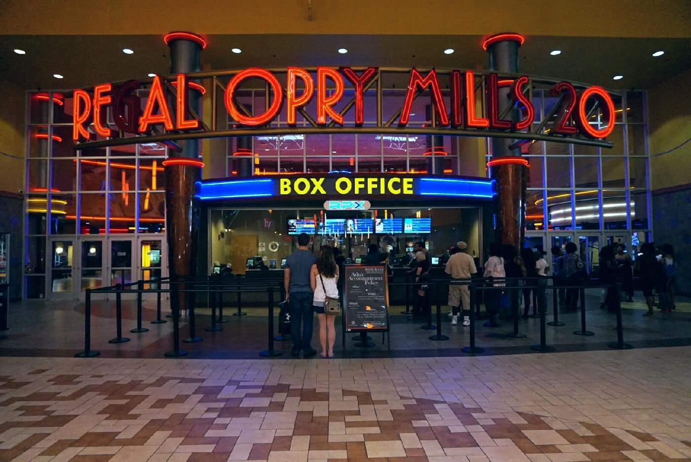 Line for the movies at oprymills movie theater in