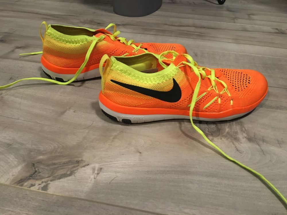 703ec9d82722 Nike Womens Free TR Focus Flyknit Running Shoes - Size 6 - Orange Yellow   fashion  clothing  shoes  accessories  womensshoes  athleticshoes (ebay  link)