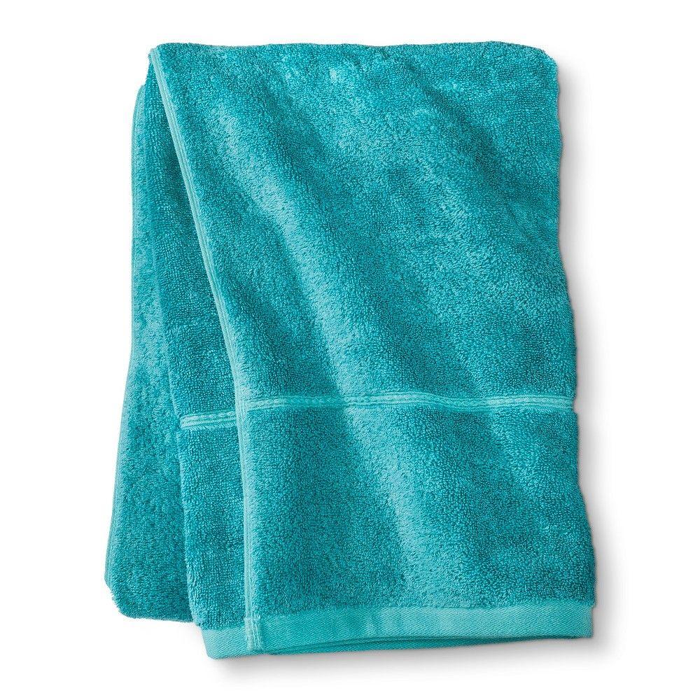 Bath Sheets Target Botanic Solid Bath Sheet Galapagos Aqua  Threshold  Bath Aqua And
