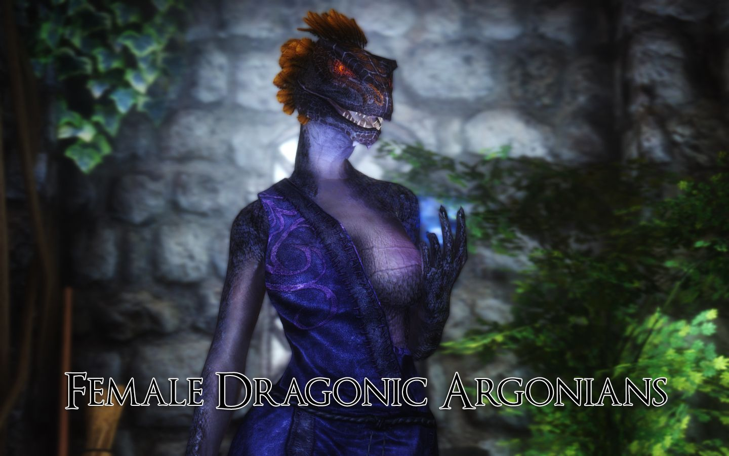 Female Dragonic Argonian Textures Cbbe And Unp Skyrim Se In 2019