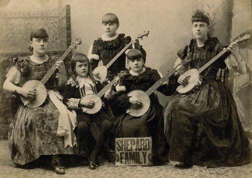 "Photo 1897 San Francisco Calif /""Woman Playing Banjo/"""